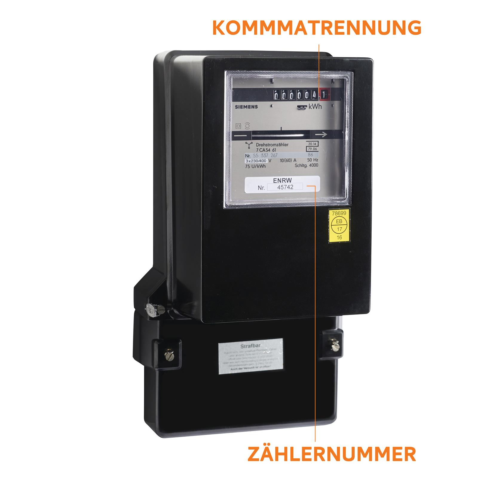 ENRW Strom Eintarif Zähler