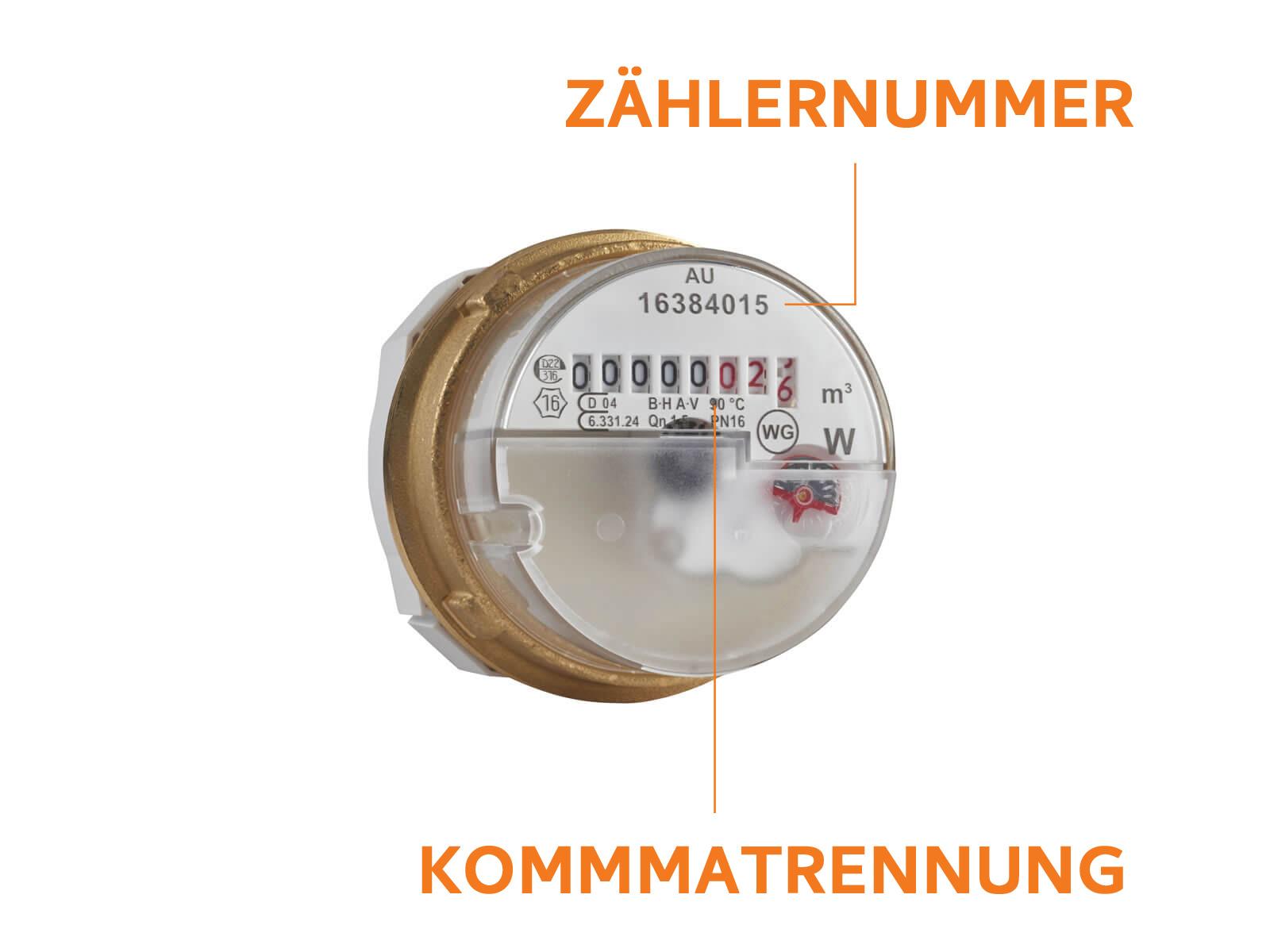 ENRW Wohnungs Trink- und Warmwasser Zähler