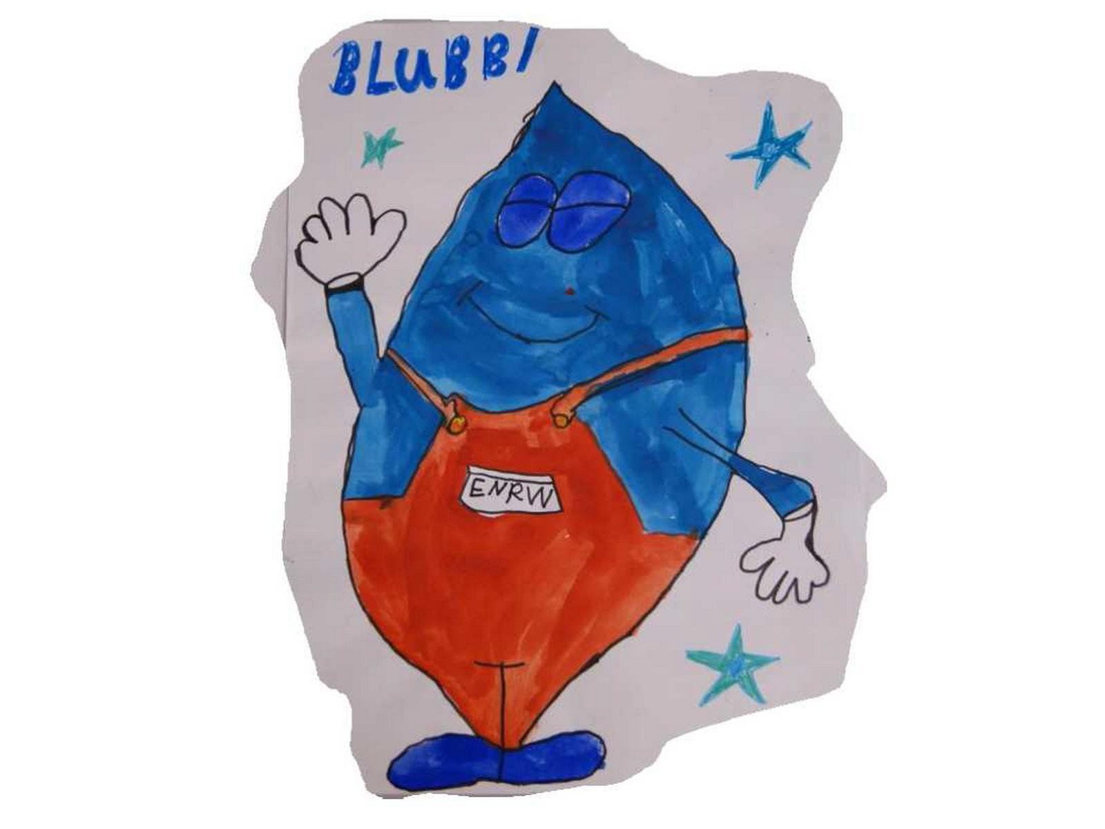 Siegerbild Blubbi Malwettbewerb auf dem Round-Table-Kinderfest_Platz 3: Ebru