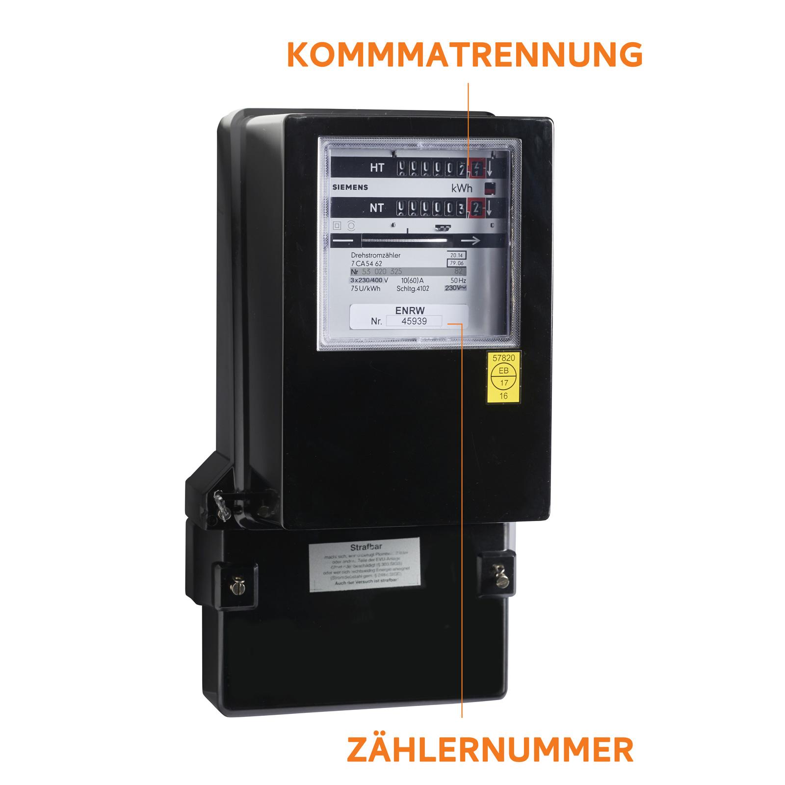 ENRW Strom Zweitarif Zähler