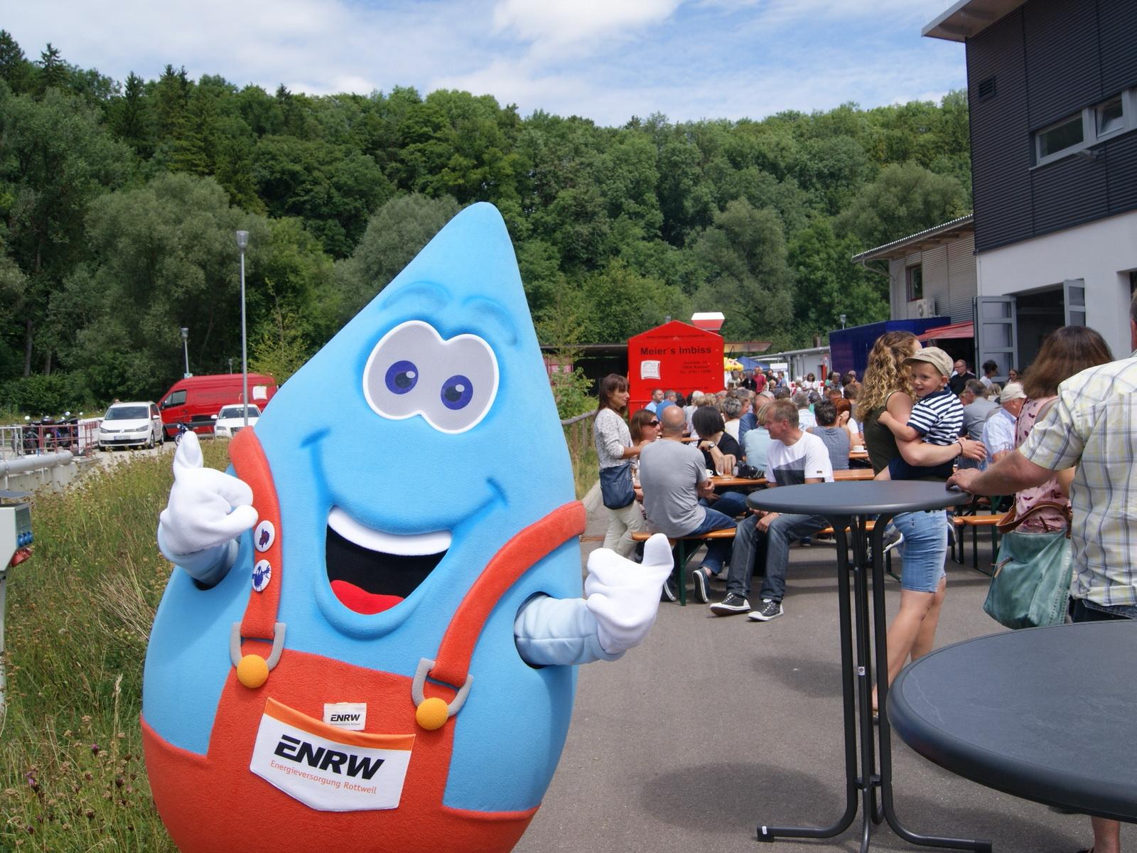 Blubbi am Tag der offenen Tür des ENRW Eigenbetrieb Stadtentwässerung