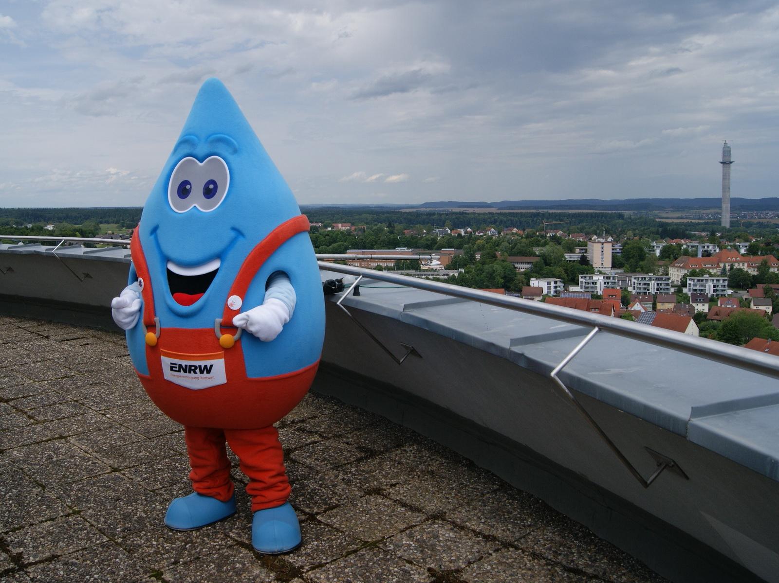Eierflugwettbewerb 2017: Blubbi auf dem Wasserturm