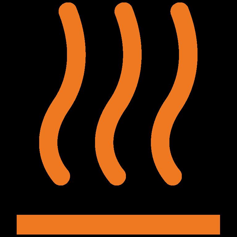 Wärme: Icon einer Heizung