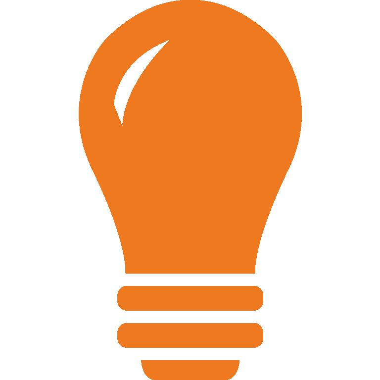 Energiedienstleistung: Icon von Glühbirne