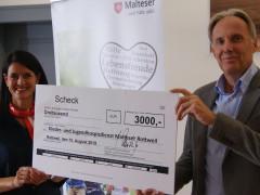 ENRW spendet 3.000 Euro an Kinder- und Jugendhospizdienst