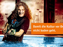 Gitarrist aquasol, damit Kultur vor Ort nicht baden geht