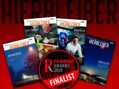 Kundenmagazin Hierbleiber für PR-Award nominiert