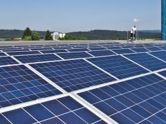 Photovoltaik-Anlage auf dem aquasol