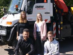 Die neuen Azubis der ENRW 2021