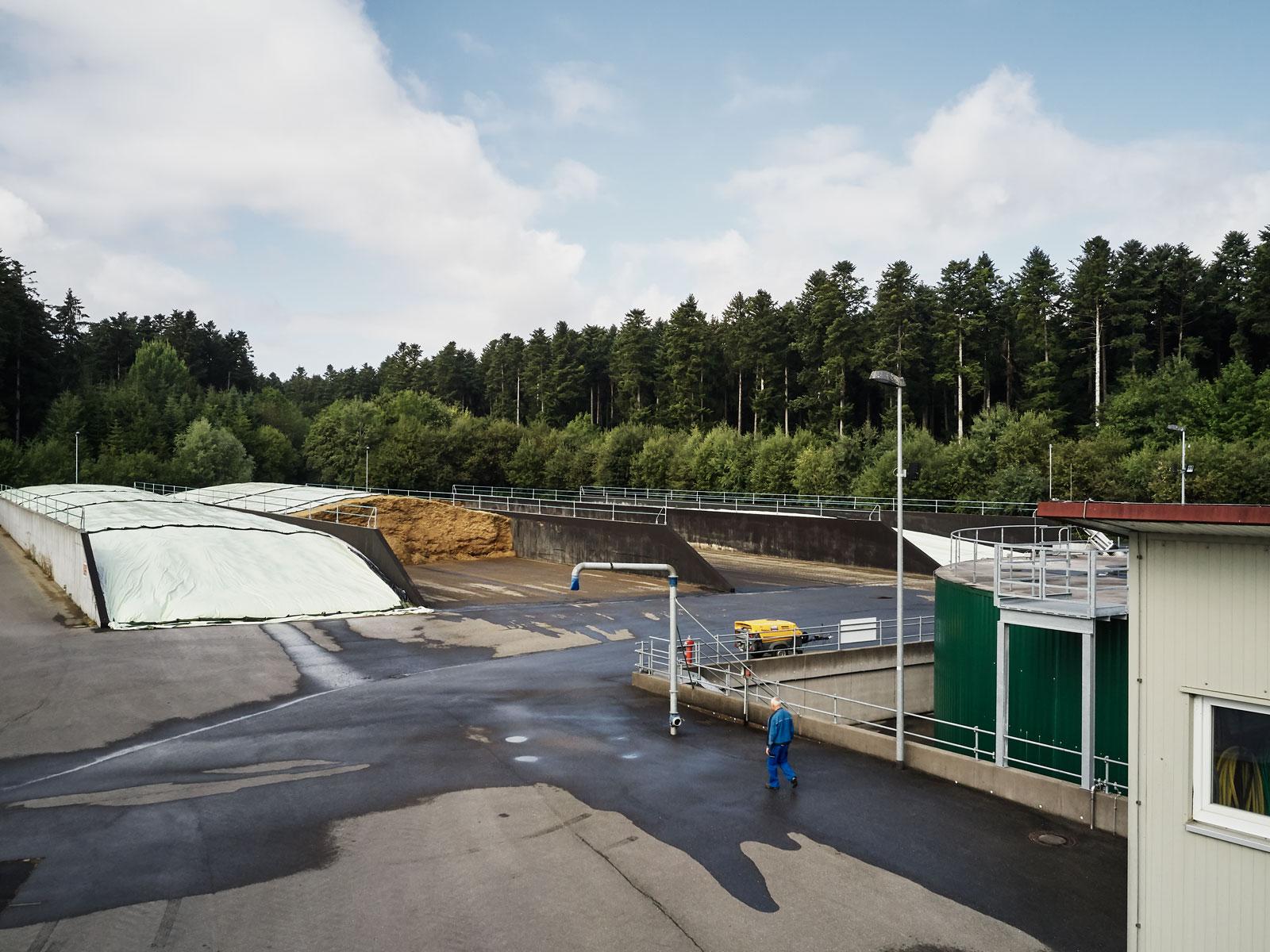 Luftaufnahme der Biogasanlage Hausen