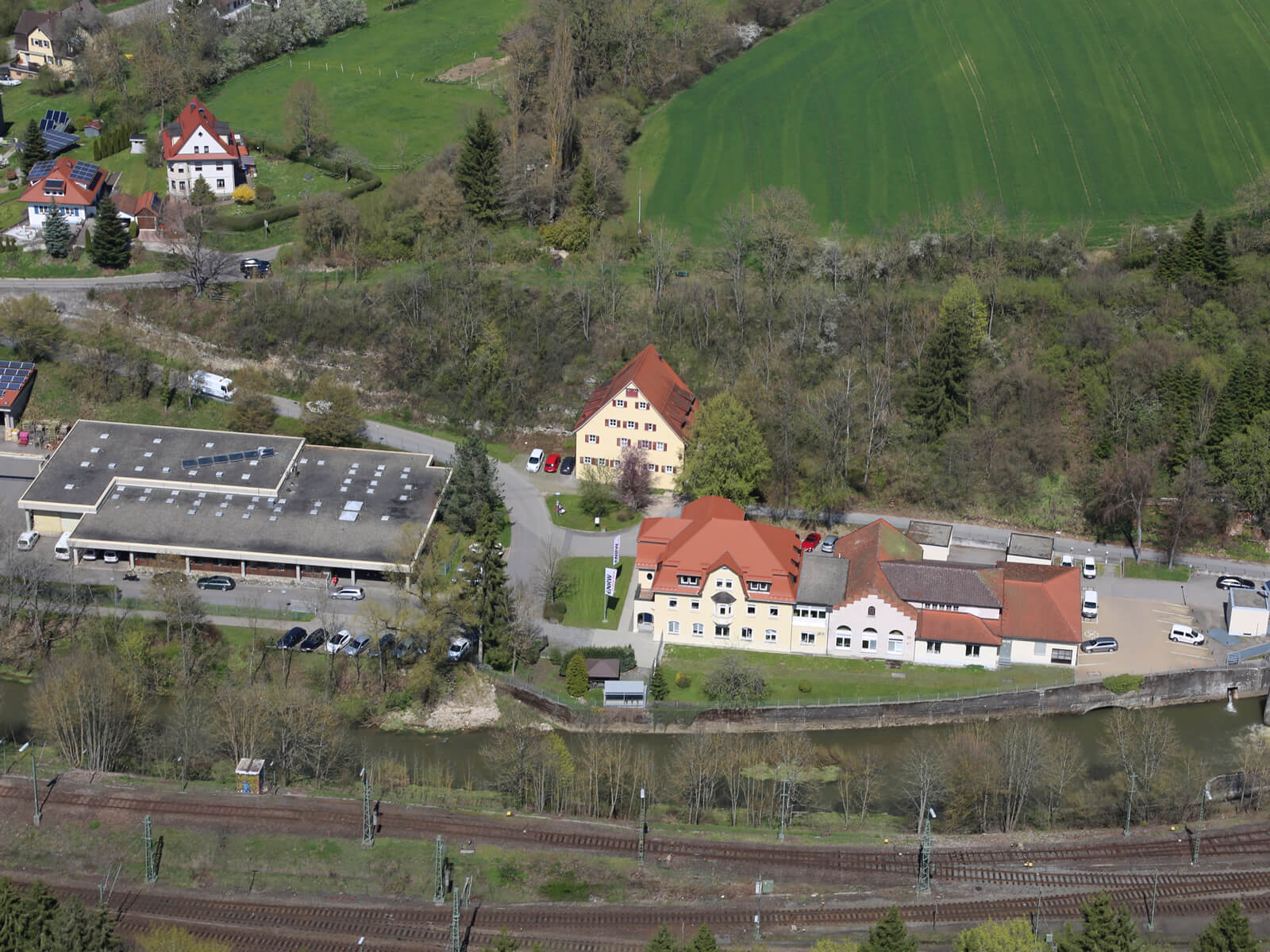 Standort in der Au Luftbild