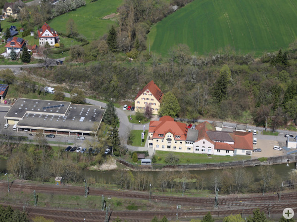 Luftbild ENRW Standort Verwaltung in der Au
