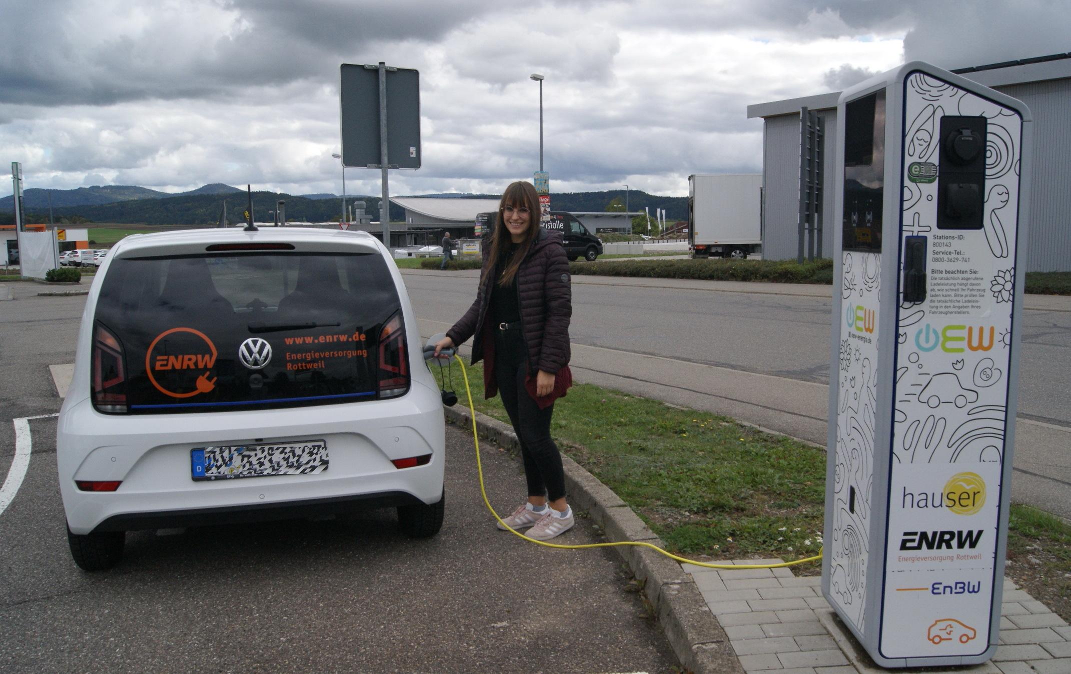 E-Tankstelle auf dem Berner Feld