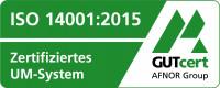 GUTcert AFNOR Group: ISO 14001:2015 Zertifiziertes UM-System